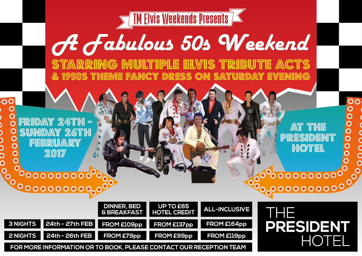 1950 S Themed Weekend With Multiple Elvis Tribute Artists